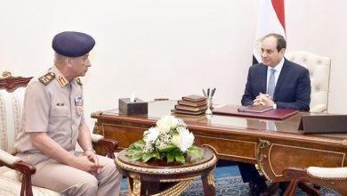 صورة وزير الدفاع يهنئ الرئيس السيسي والشعب بمناسبة الاحتفال بذكرى 30 يونيو