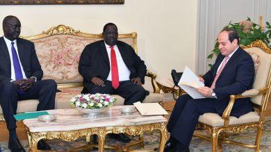 صورة السيسي يستقبل مبعوث رئيس جمهورية جنوب السودان