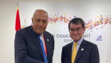 صورة وزير الخارجية يبحث التعاون الثنائي والأوضاع الإقليمية مع نظيره الياباني