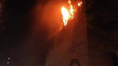 حريق كنيسة حدائق القبة