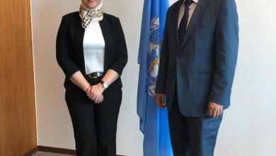 صورة وزيرة الصحة تلتقي بمدير منظمة الصحة العالمية بجنيف