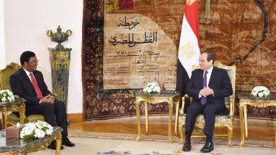صورة الرئيس السيسي يستقبل رئيس وزراء تنزانيا