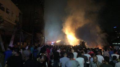 صورة فريق من نيابة جنوب القاهرة ينتقل لموقع انفجار معهد الأورام