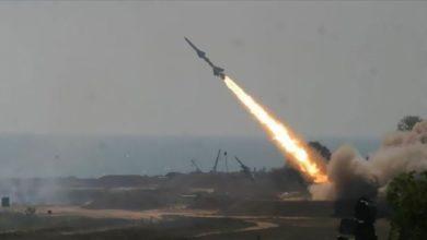 صورة اعتراض صاروخ في سماء الرياض