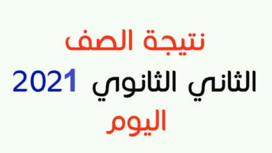 صورة رابط نتيجة الصف الثاني الثانوي 2021 عبر موقع وزارة التربية والتعليم وموعد ظهورها