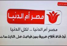 صورة تردد قناة مصر أم الدنيا الجديد على النايل سات