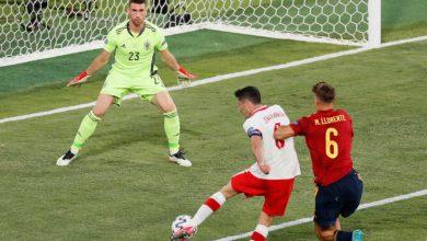 """صورة أهداف مباراة إسبانيا وبولندا (1-1) اليوم في في بطولة أمم أوروبا """"يورو 2020"""""""