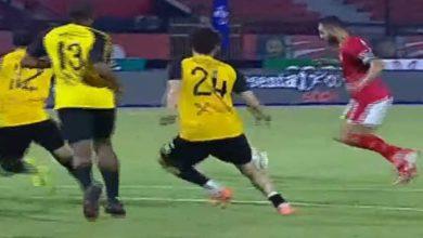 صورة أهداف مباراة الأهلي والانتاج الحربي (3-2) اليوم فى الدوري المصري