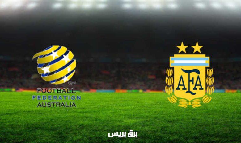 مشاهدة مباراة الأرجنتين وأستراليا اليوم بث مباشر فى أولمبياد طوكيو 2020