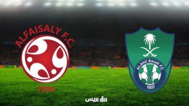 صورة نتيجة مباراة الأهلي والفيصلي اليوم فى الدوري السعودي