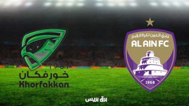 صورة نتيجة مباراة العين وخورفكان اليوم فى الدوري الاماراتي