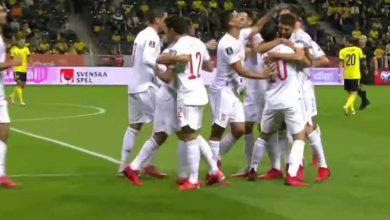 صورة أهداف مباراة إسبانيا والسويد (1-2) اليوم فى تصفيات كأس العالم