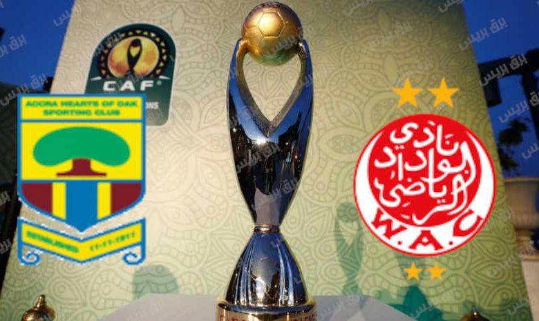 موعد مباراة الوداد الرياضي وهيرتس أوف أواك القادمة والقنوات الناقلة فى دوري أبطال أفريقيا